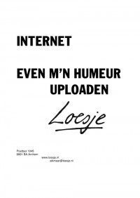 internet even m'n humeur uploaden