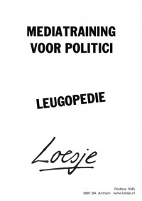 mediatraining voor politici leugopedie
